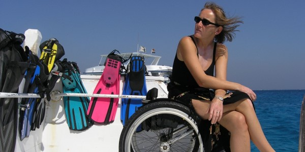 wheelchair on boat